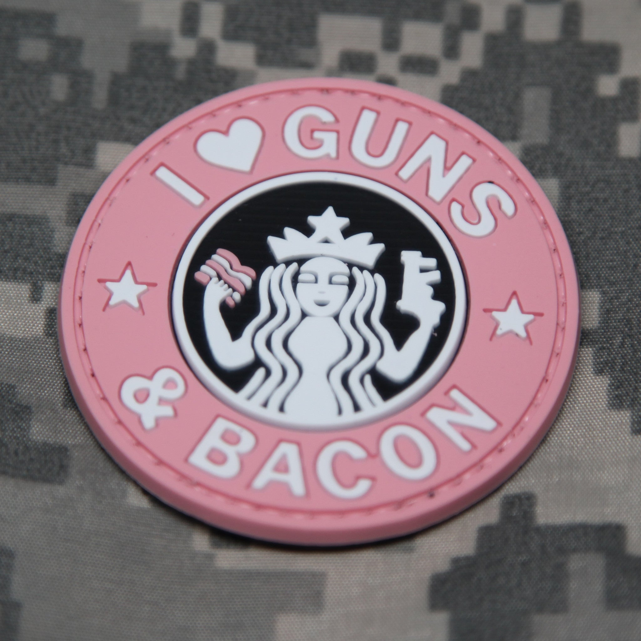 I Love Guns And Bacon Morale Patch - NEO Tactical Gear e89ffea540d