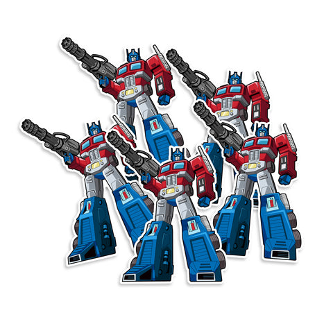 Transformer Optimus Prime Vinyl Sticker