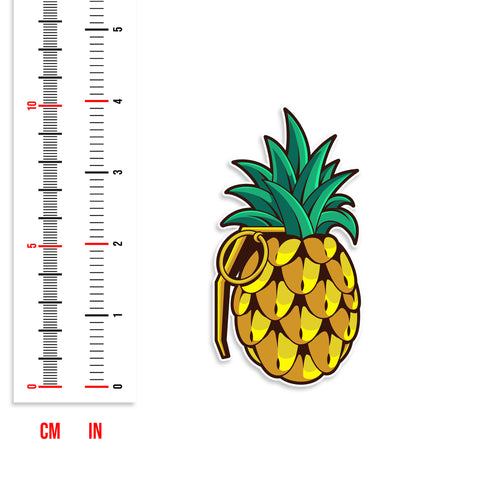 Pineapple Grenade Vinyl Sticker