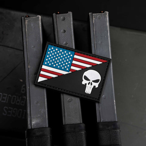 US Flag Split Punisher Patch