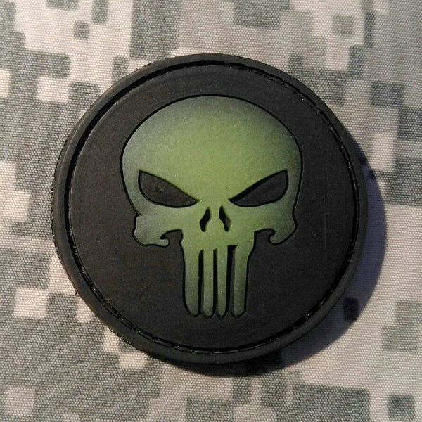 Punisher Glow In The Dark Pvc Morale Patch Neo