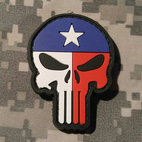 Punisher Texas PVC Morale Patch