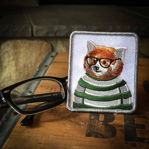 Red Panda Embroidered Badge