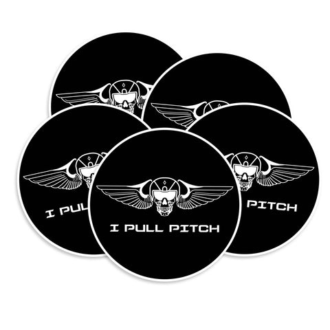 I Pull Pitch Skull & Wings Vinyl Sticker