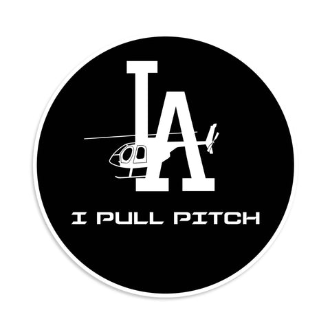 I Pull Pitch LA Sticker