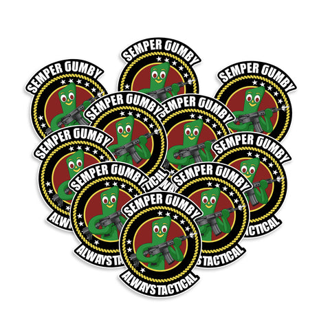 Semper Gumby Always Tactical United States Marine Corps USMC Vinyl Sticker