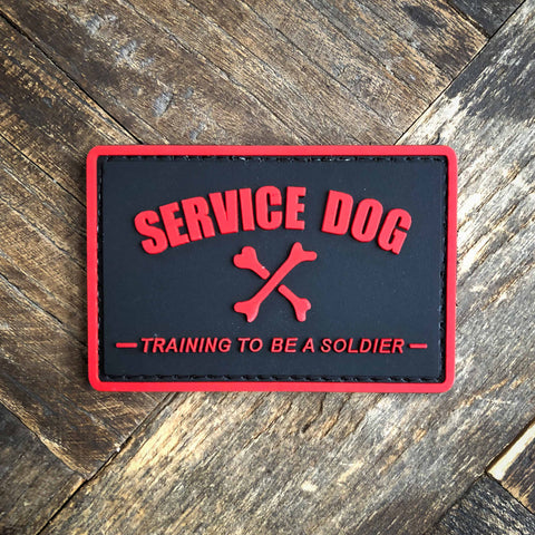 Service Dog Training To Be A Soldier PVC Morale Patch