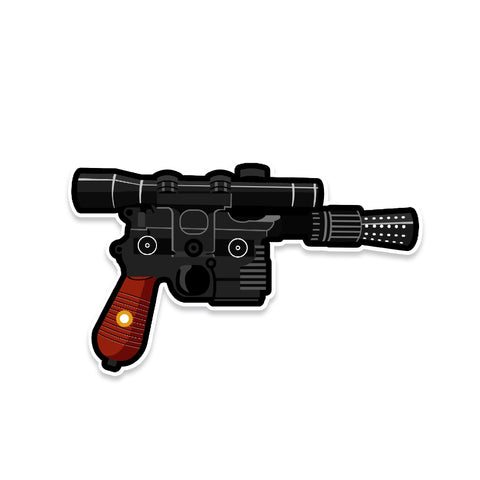 Han Solo DL-44 Blaster Star Wars Vinyl Sticker