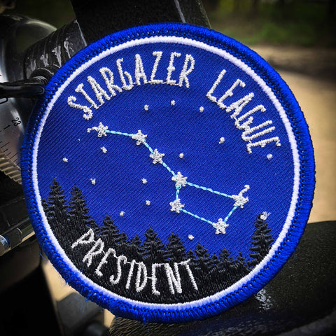 Stargazer League Embroidered Badge