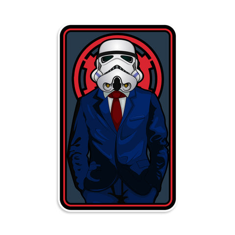 Stormtrooper In A Suit Sticker