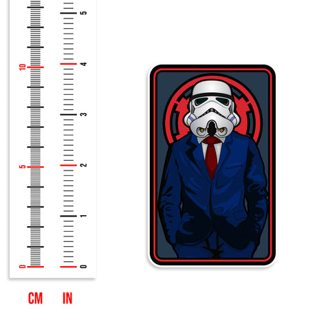 Dapper Stormtrooper Vinyl Sticker