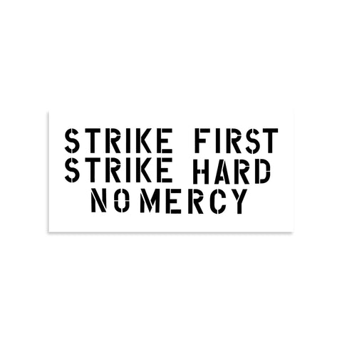 Cobra Kai Strike First Strike Hard No Mercy Vinyl Sticker