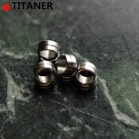 Titanium Short Barrel Lanyard Bead