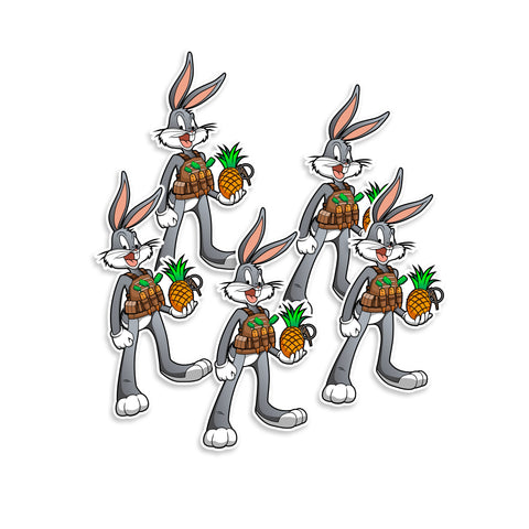 Space Jam Tactical Bugs Bunny Vinyl Sticker
