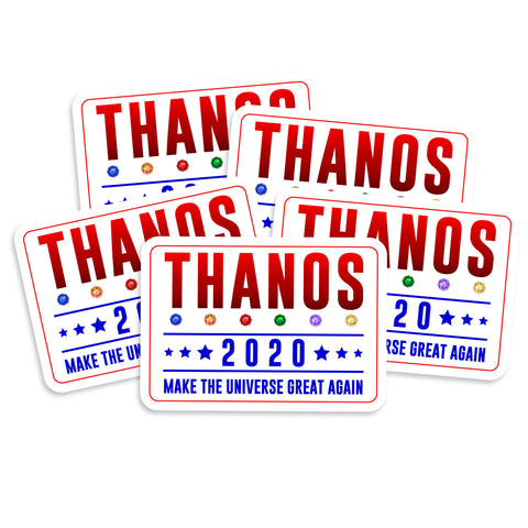 Thanos 2020 Make The Universe Great Again Vinyl Sticker