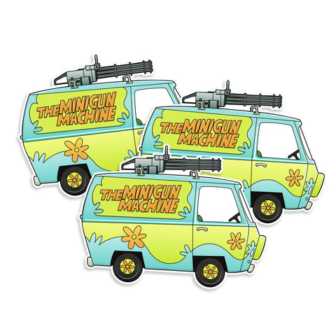 Scooby-Doo Minigun Machine Vinyl Sticker