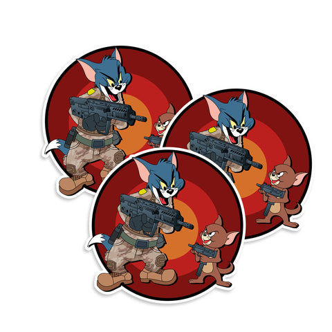 Tactical Tom & Jerry Vinyl Sticker