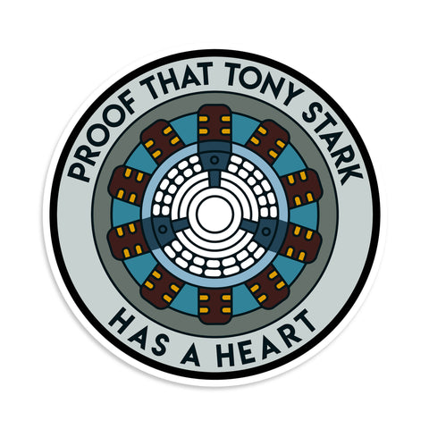Proof That Tony Stark Has A Heart Sticker