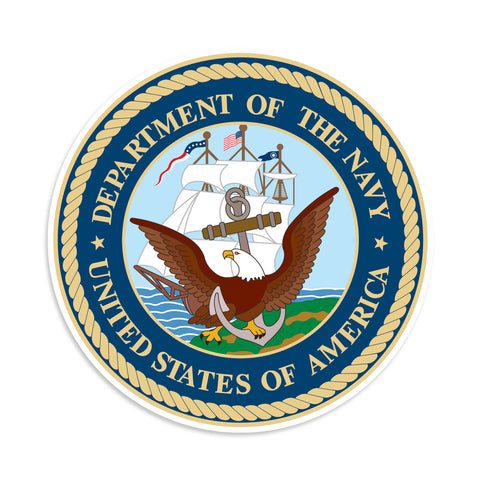 Department Of The Navy United States Of America Vinyl Sticker