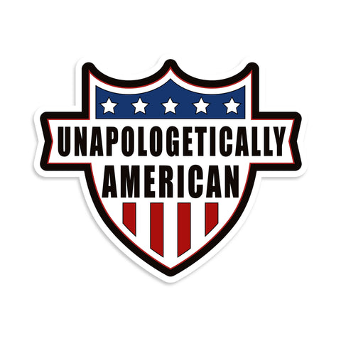 Unapologetically American Vinyl Sticker