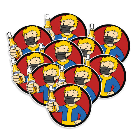 Vault Boy Cinco De Mayo Covid-19 Vinyl Sticker