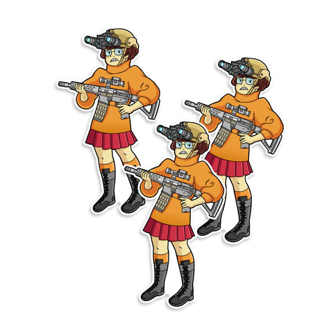 Tactical Velma Scooby-Doo Vinyl Sticker