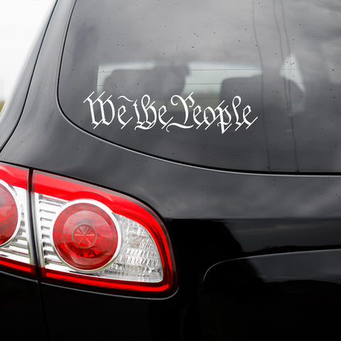 We The People Vinyl Transfer Decal - SALE
