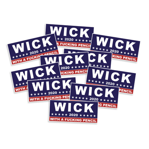 Wick 2020 With A Fucking Pencil Vinyl Sticker
