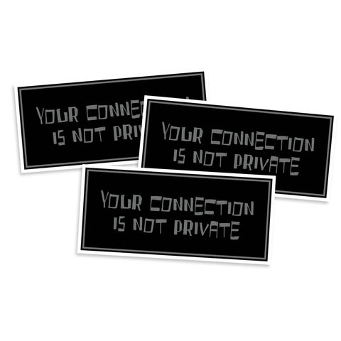 Your Connection Is Not Private Sticker