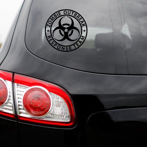 Zombie Outbreak Response Team Vinyl Transfer Decal