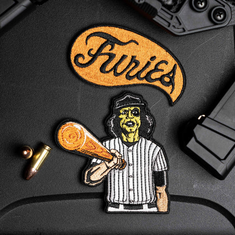 Baseball Furies Embroidered Patch Set
