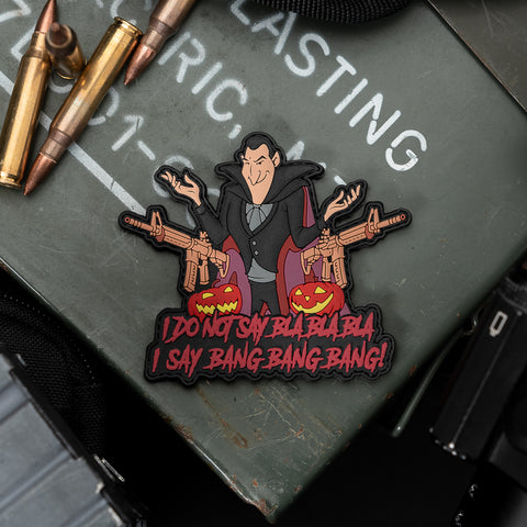Count Dracula Hotel Transylvania PVC Morale Patch
