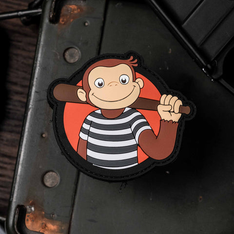Curious George Thug Life Patch