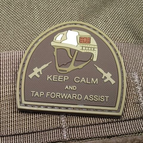 Keep Calm and Tap Forward Assist Morale Patch