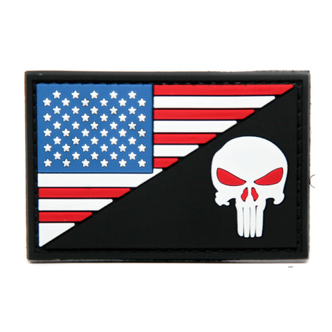 US Flag Split Punisher PVC Morale Patch
