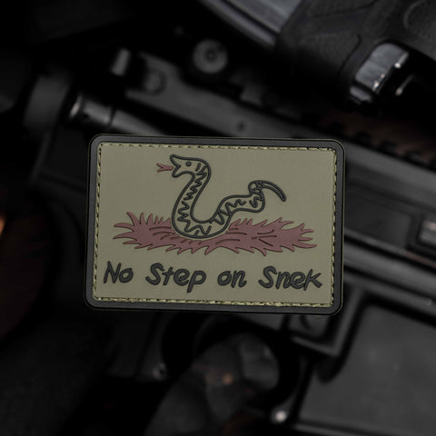 No Step On Snek (Don't Tread On Me) PVC Morale Patch