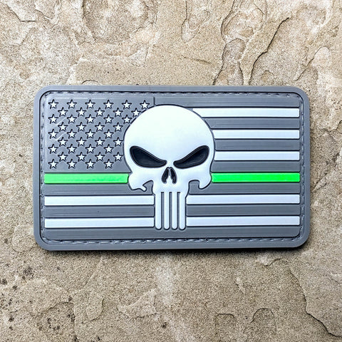 Punisher US Flag Thin Green Line Subdued