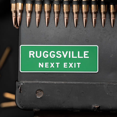 Ruggsville Next Exit PVC Morale Patch