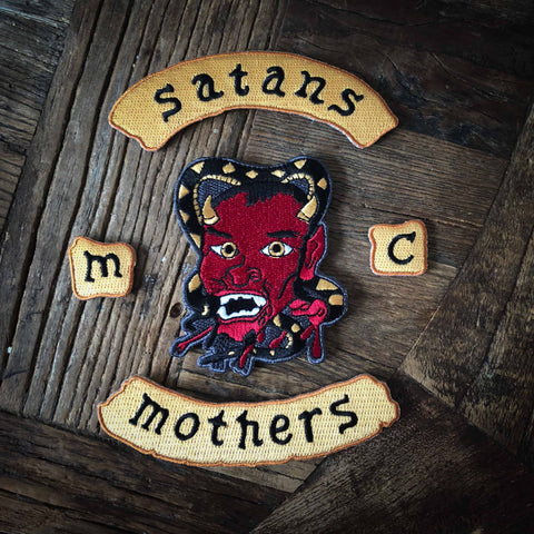 Satans Mothers Embroidered Patch Set