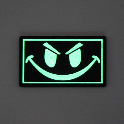 Smiley Face - Glow In The Dark PVC Morale Patch