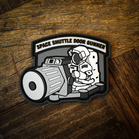 Space Shuttle Door Gunner PVC Morale Patch