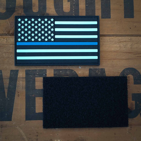 US Flag Thin Blue Line - PVC Morale Patch