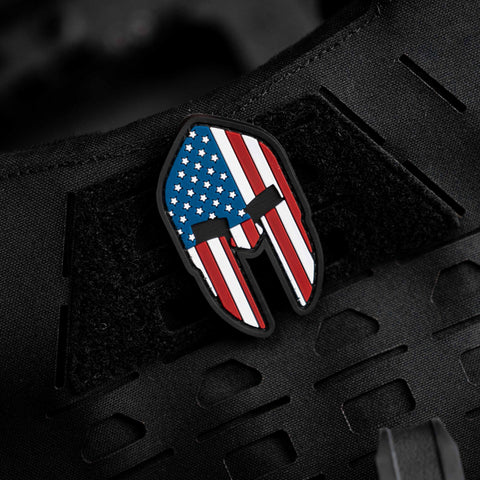 US Flag Spartan Morale Patch