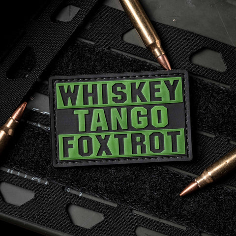 Whiskey Tango Foxtrot - PVC Morale Patch