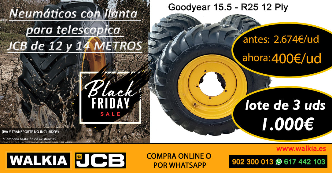 ofertas walkia jcb campaña invierno black friday neumaticos telescopicas promociones