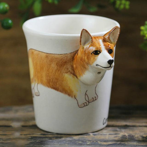 300ml cute dog mugs 3D