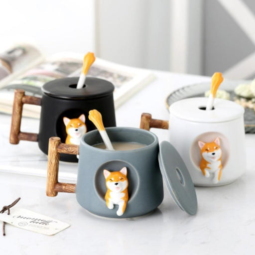 Cute Cartoon Animal Shiba Inu Ceramic Mug