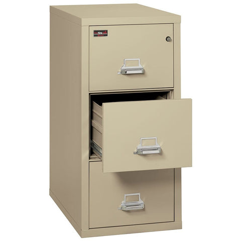 Fire King 3 Drawer 2 Hour Rated File Cabinet 3-1943-2