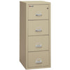 Image of Fire King 4 Drawer Classic Vertical Fireproof File Cabinet 4-1825-C