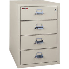 "Fire King 4 Drawer 31"" Depth Card-Check-Note Fireproof File Cabinet 4-2536-C"